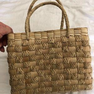 Handbags - Vintage Handmade Lauhala Small Tote
